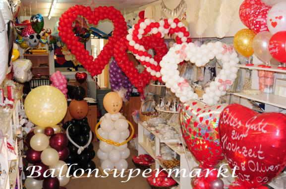 Hochzeitsherzen aus Ballons, Hochzeitsdeko vom Ballonsupermarkt