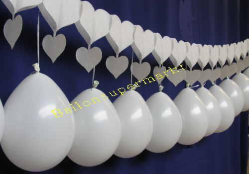 Luftballons Hochzeit Girlanden