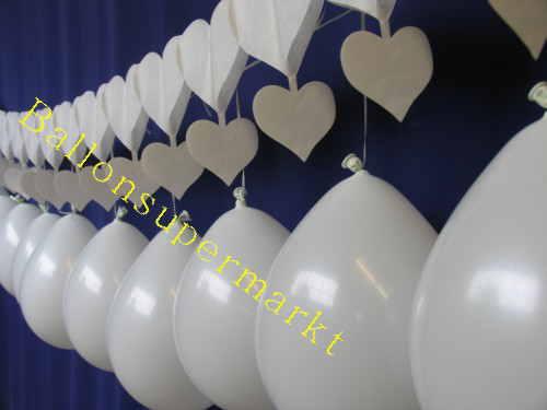 Herzgirlande Luftballons Hochzeitsdeko